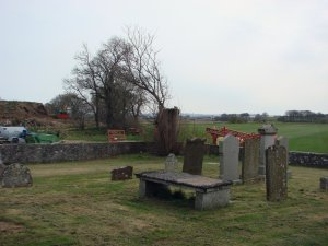 The graveyard is a bit sparse for the age of the place. Maybe they moved somewhere cheaper.